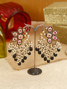 Jet Chakrika Designer Earrings