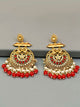 Red Rajshri Pearly Designer Earrings