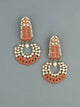 Coral Daljit Designer Chandbali Earrings
