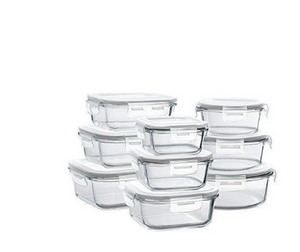 Glass Storage Containers with Lids set of all