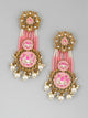 Neon Pink Manan Designer Earrings