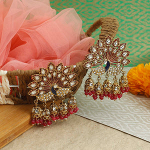 Pink Mayur Designer Earrings