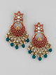 Red Avyay Designer Earrings