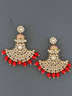 Red Hamsini Chaandbali Earrings