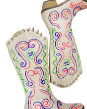 Load image into Gallery viewer, BORN WESTERN BOOTS-WHITE