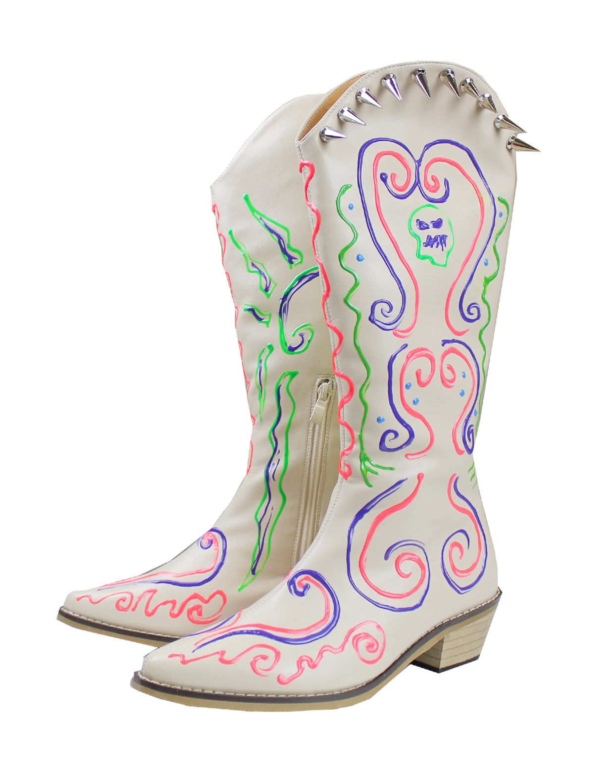 BORN WESTERN BOOTS-WHITE