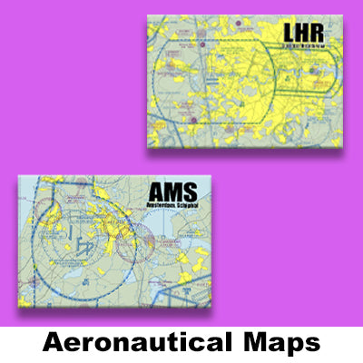 AERONAUTICAL SECTIONAL MAP MAGNETS