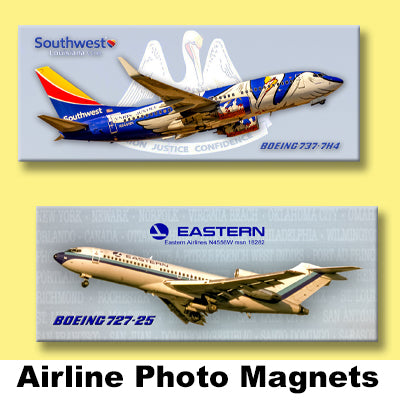 AIRLINE PHOTO MAGNETS