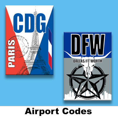 AIRPORT CODE MAGNETS