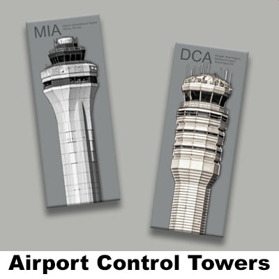 AIRPORT CONTROL TOWERS MAGNETS