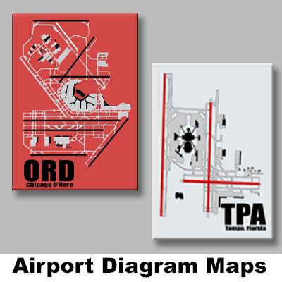 AIRPORT DIAGRAM MAGNETS