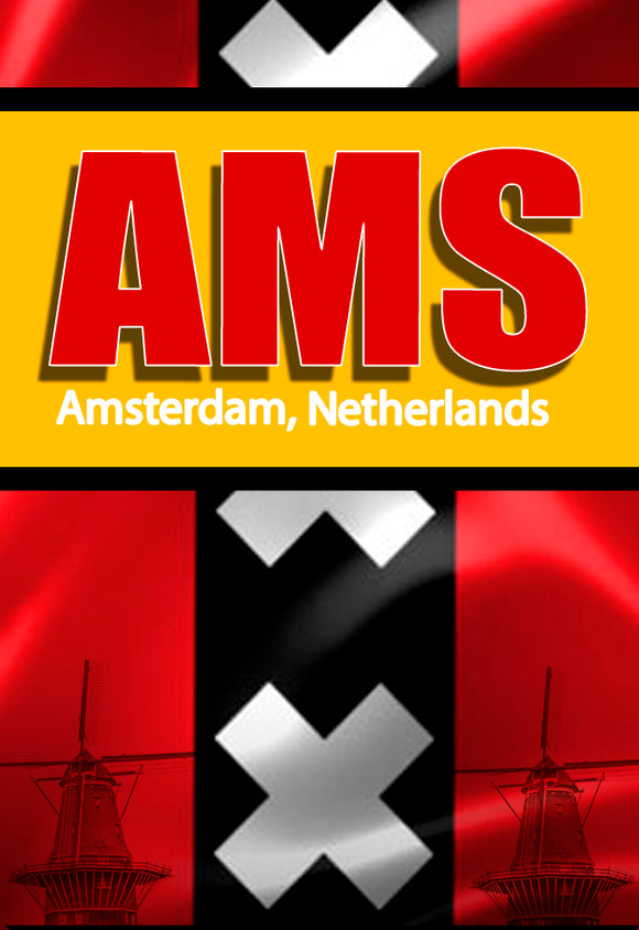 AMS Amsterdam Airport Code (ACM1001)