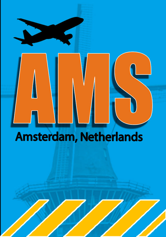 AMS Amsterdam Airport Code (ACM1002)
