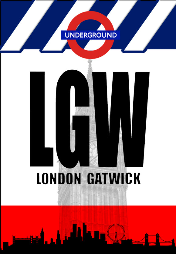 LGW London Airport Code (ACM1004)