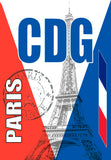 CDG Paris Airport Code (ACM1007)