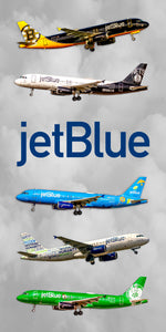JetBlue Airlines Airbus Colors Collage (APPM90004)