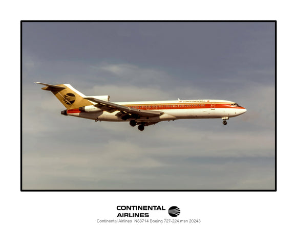 Continental Airlines Boeing 727-224 (I219RAJF11X14)