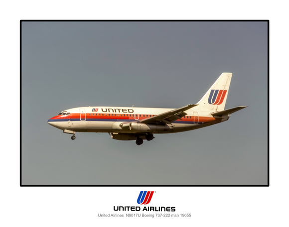United Airlines Boeing 737-200 (J184LAJF11X14)