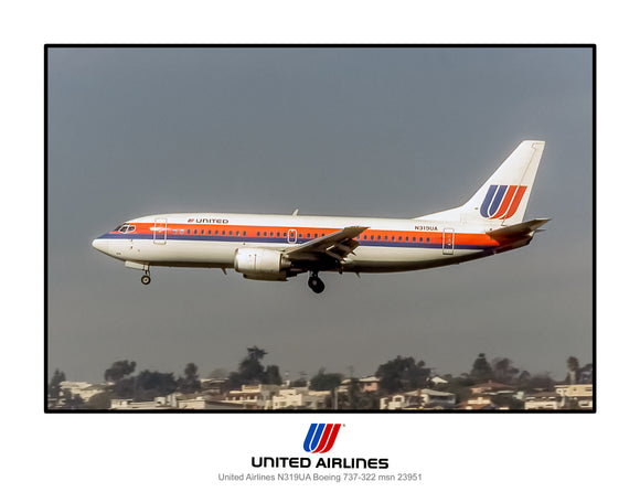 United Airlines Boeing 737-322 (K006LAAA11X14)