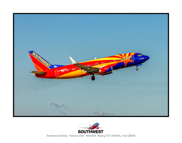 Southwest Airlines Arizona One colors (K174RAJM11X14)