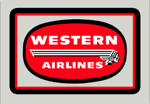 Western Airlines Logo (LM14024)