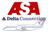 ASA Airlines, Delta Connection Logo (LM14051)