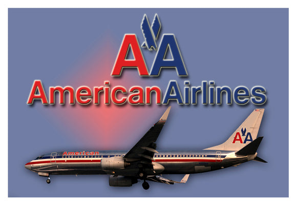 American Airlines Metal Logo (LM14102)