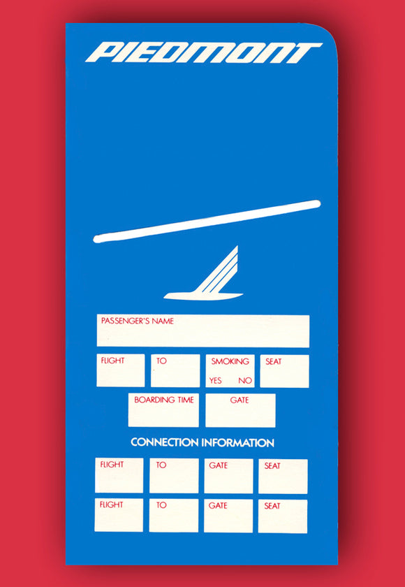 Piedmont Airlines Ticket Jacket Magnet (LM14111)