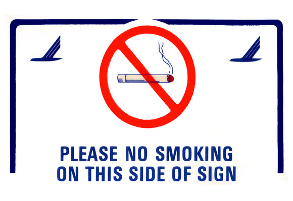 Piedmont Airlines No Smoking Sign Logo (LM14114)