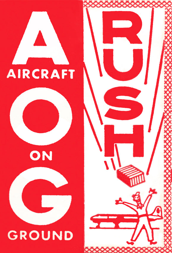 AOG Rush Label Magnet (LM14118)