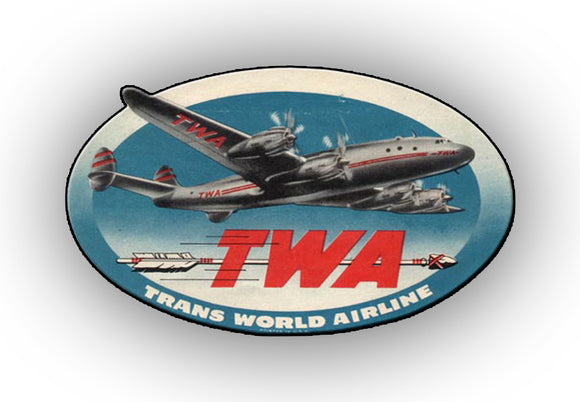 TWA Airlines Logo with Connie (LM14209)