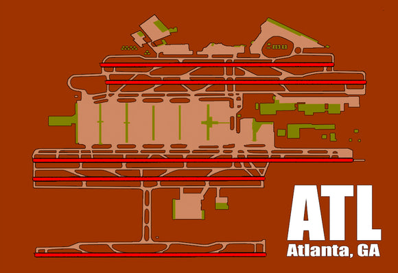 ATL Atlanta Airport Diagram (MM10005)