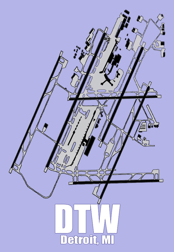 DTW Detroit Airport Diagram (MM10006