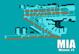 MIA Miami Airport Diagram (MM10007)