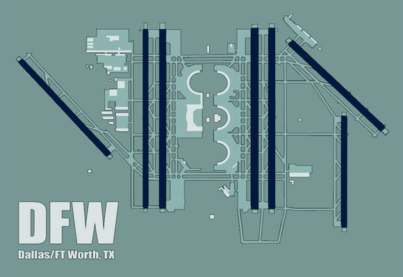 DFW Dallas/Ft Worth Airport Diagram (MM10008)
