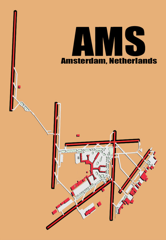 AMS Amsterdam Airport Diagram (MM10011)
