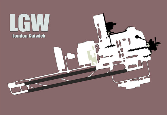 LGW London Gatwick Airport Diagram (MM10012)