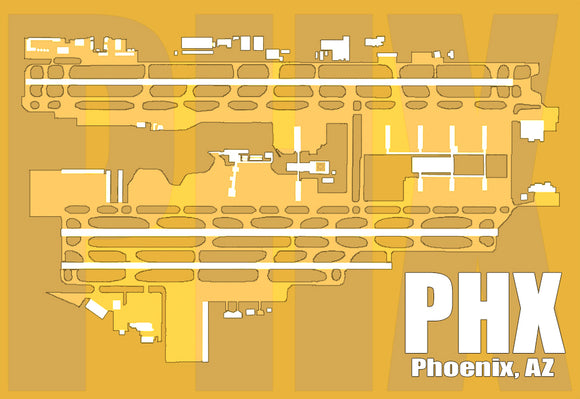 PHX Phoenix, AZ Airport Diagram (MM10014)