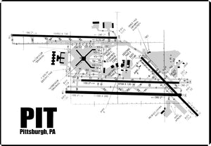PIT Pittsburgh Airport Diagram (MM10017)