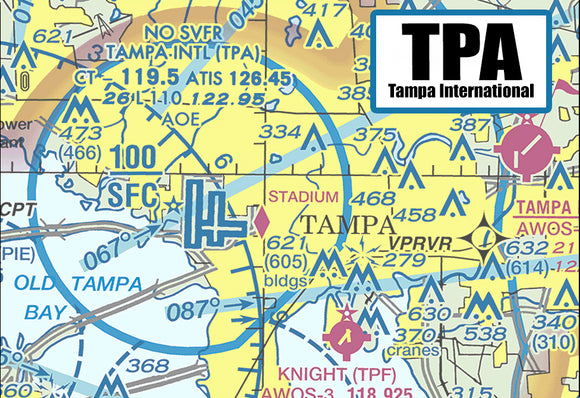 TPA Tampa Airport Sectional Map (MM10506)