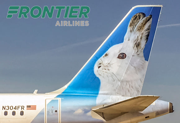 Frontier Airlines Tail Jack the Rabbit (PMCT4025)