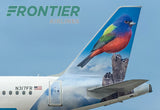 Frontier Airlines - Georgia the Pained Bunting Tail Logo (PMCT4031)