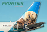 Frontier Airlines Pike the Otter Tail Logo (PMCT4033)