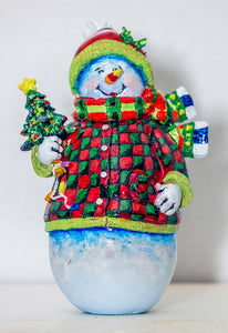 Snowman with Tree (PMH11021)
