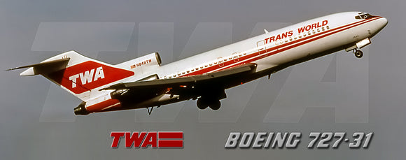 TWA Airlines 1979 Colors Boeing 727-31 (PMT1596)