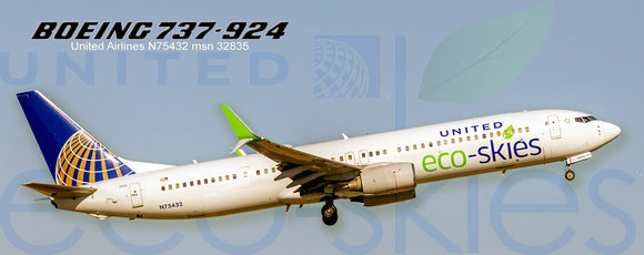 United Airlines Boeing 737-924 Eco-Skies Colors (PMT1616)