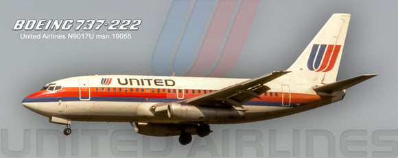 United Airlines Boeing 737-222 1974 Color (PMT1619)