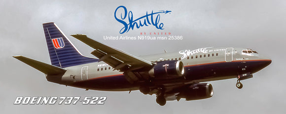 Shuttle by United Airlines Boeing 737-522 Grey top (PMT1621)