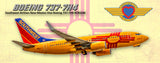 Southwest Airlines Boeing 737 New Mexico Colors (PMT1624)