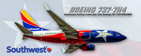 Southwest Airlines Boeing 737 Lone Star Colors (PMT1625)